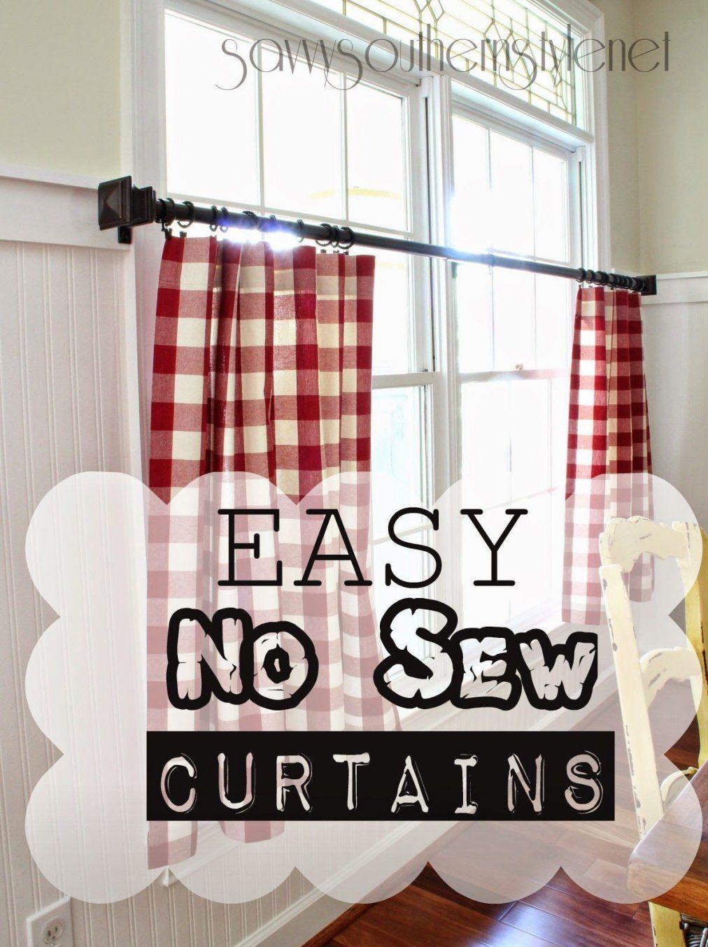 The Mister Made Easy No Sew Curtains  Gardinen Vorhänge Und von Gardinen Bogen Nähen Bild