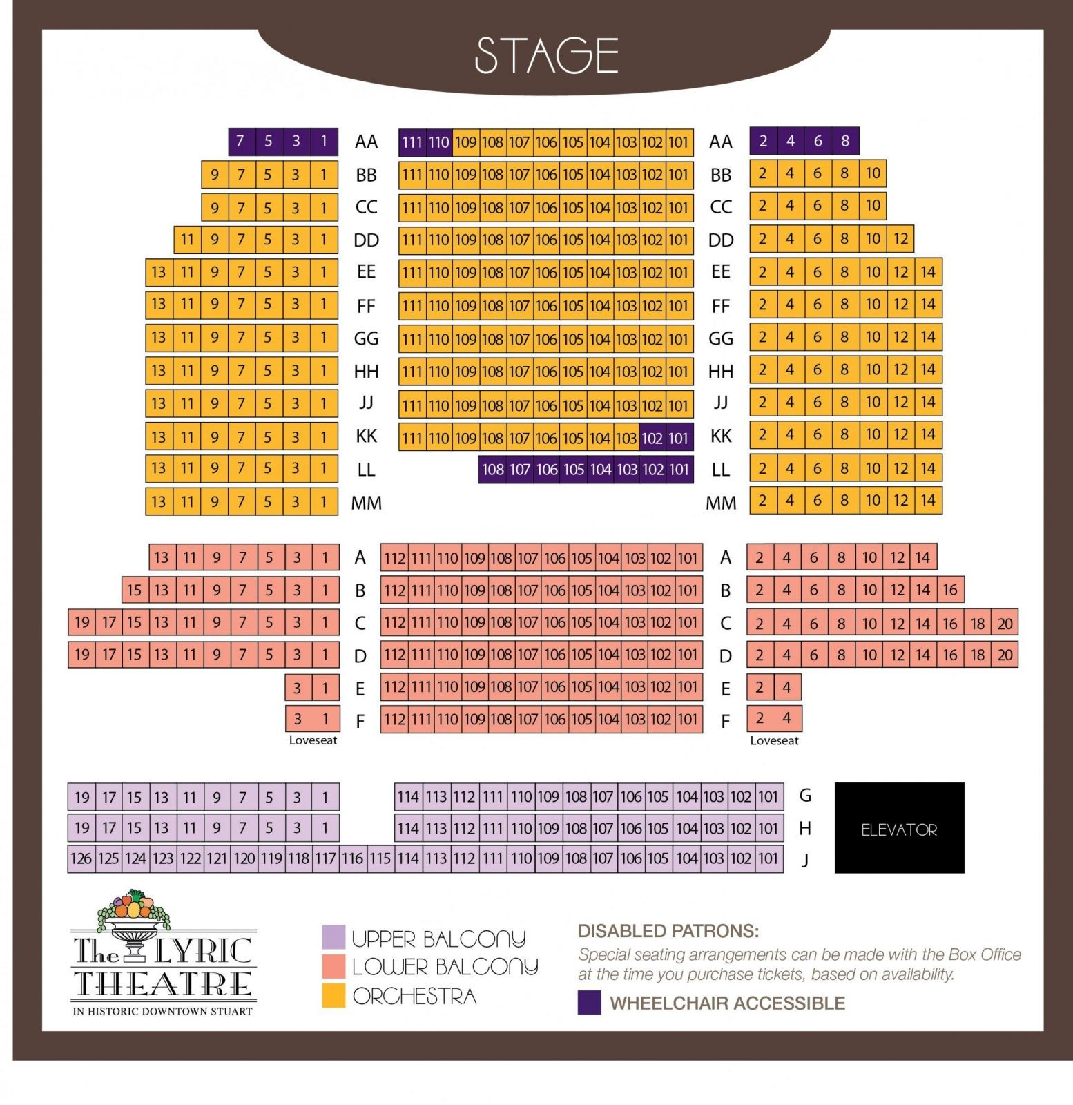 Theatre Specifications  The Lyric Theatre von Lyric Opera Seating Chart Bild