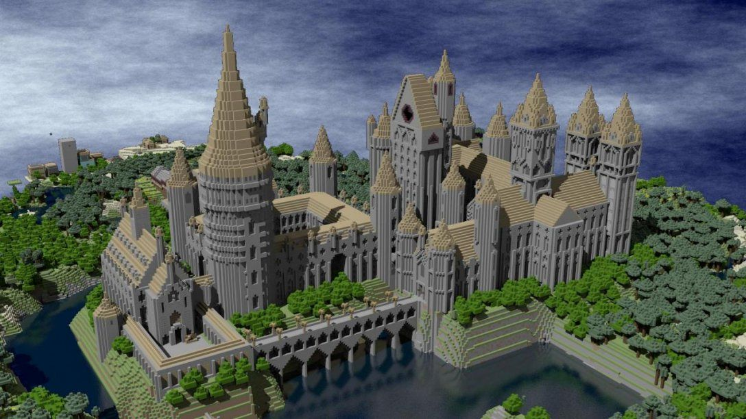 These 14 Harry Potter Minecraft Builds Will Blow You Away  Ign von Minecraft Seeds Ps4 Castle Bild