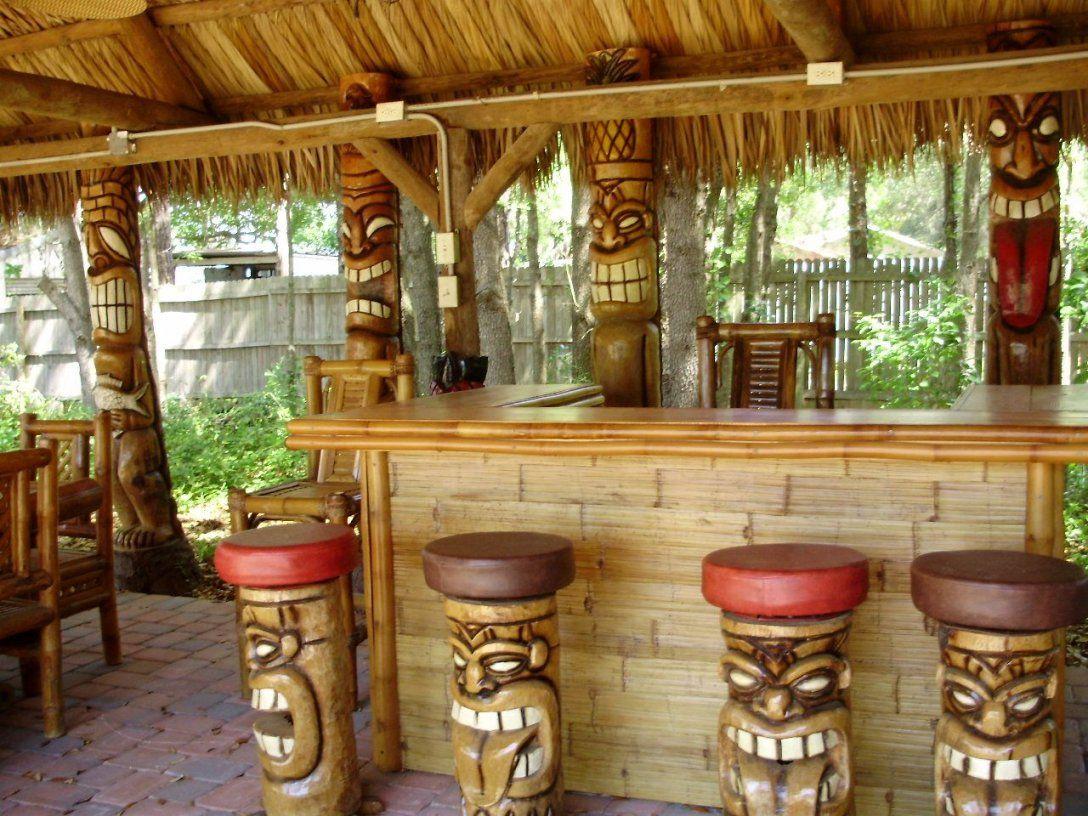 Tiki Bar  Basement Bars  Pinterest  Bar Bauen Gartenentwürfe Und von Tiki Bar Selber Bauen Photo