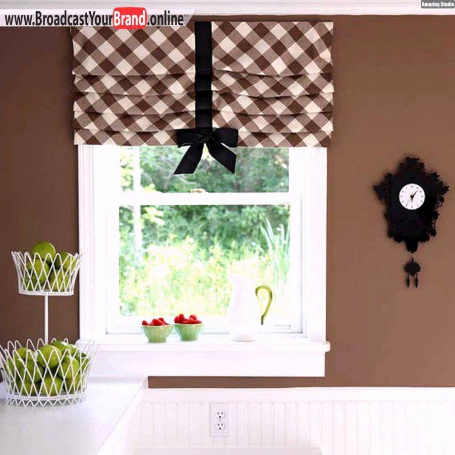 Tipps Ideen Küchenfenster Gardinen Schleife Tiefer Fensterrahmen von Küchenfenster Gardinen Ideen Bild