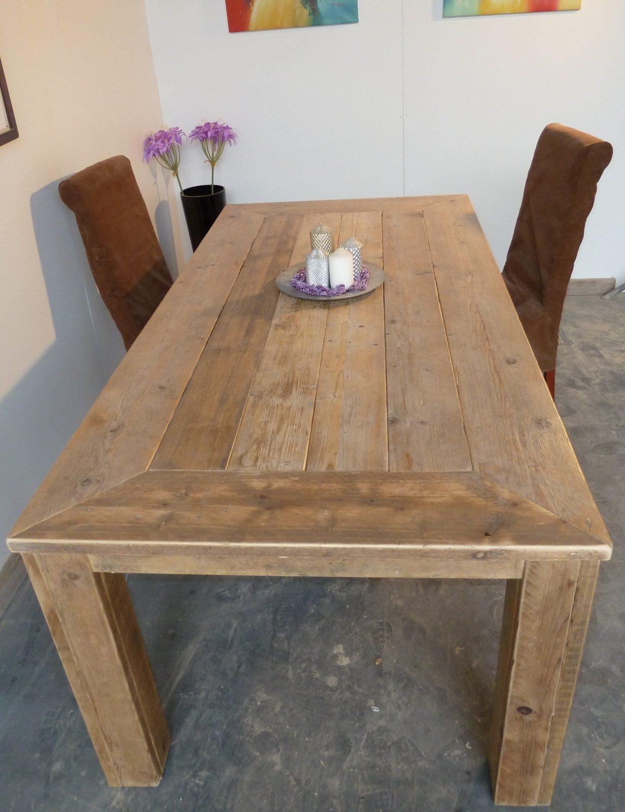 tisch aus bohlen selber bauen von möbel aus gerüstbohlen selber