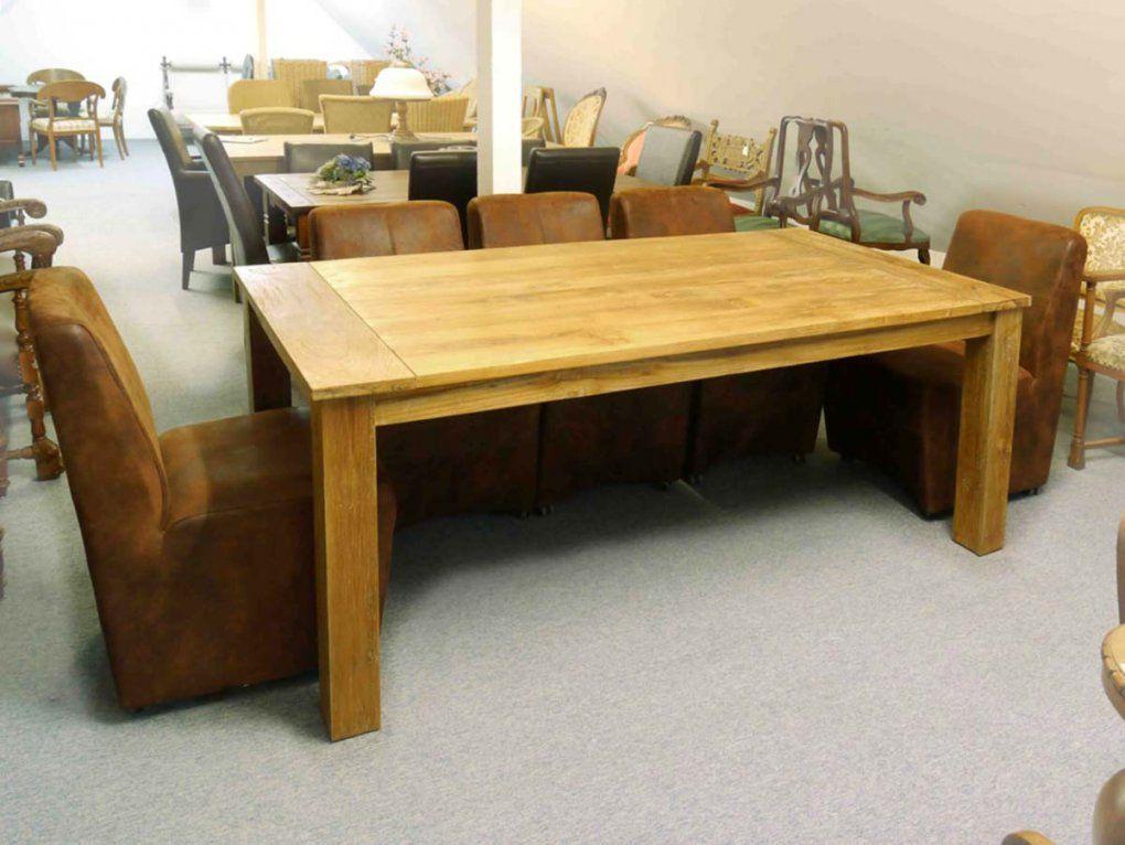 Tisch Esszimmertisch Teakholz Massiv Für Ca 8 Personen (Unbehandelt von Tisch Für 8 Personen Bild