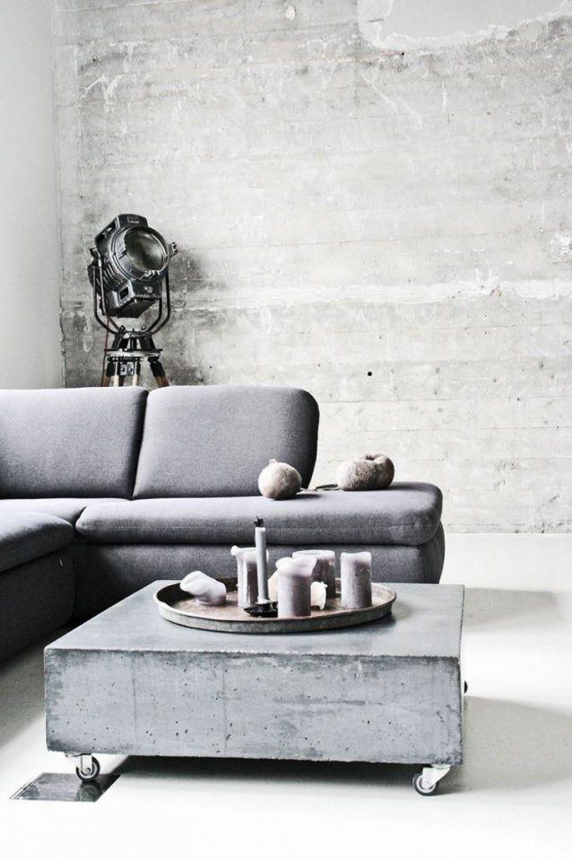 Tisch In Betonoptik Selber Machen  Ideen Mit Effektspachtel von Couchtisch Beton Selber Machen Photo
