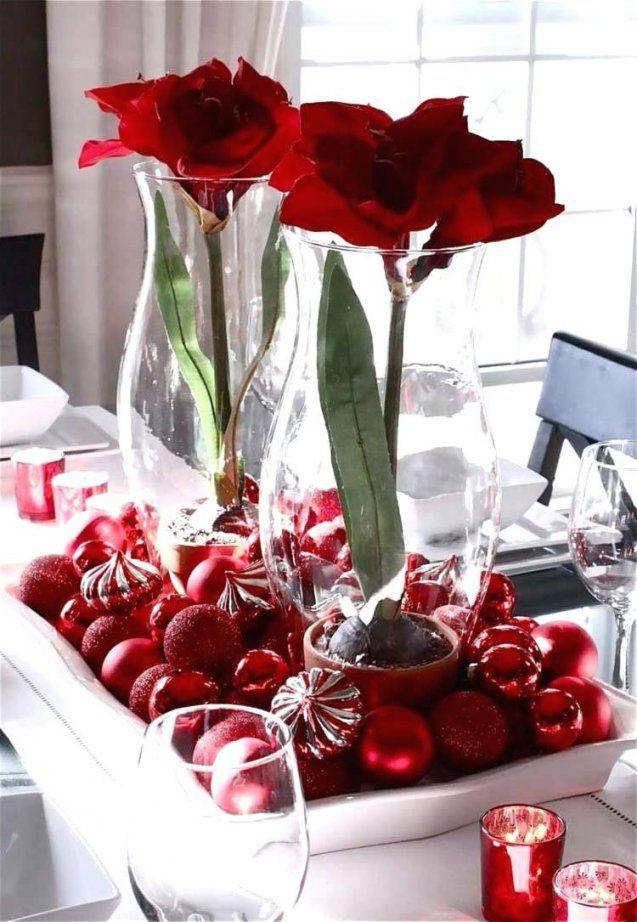 Einfache Tischdeko Weihnachten Home Ideen
