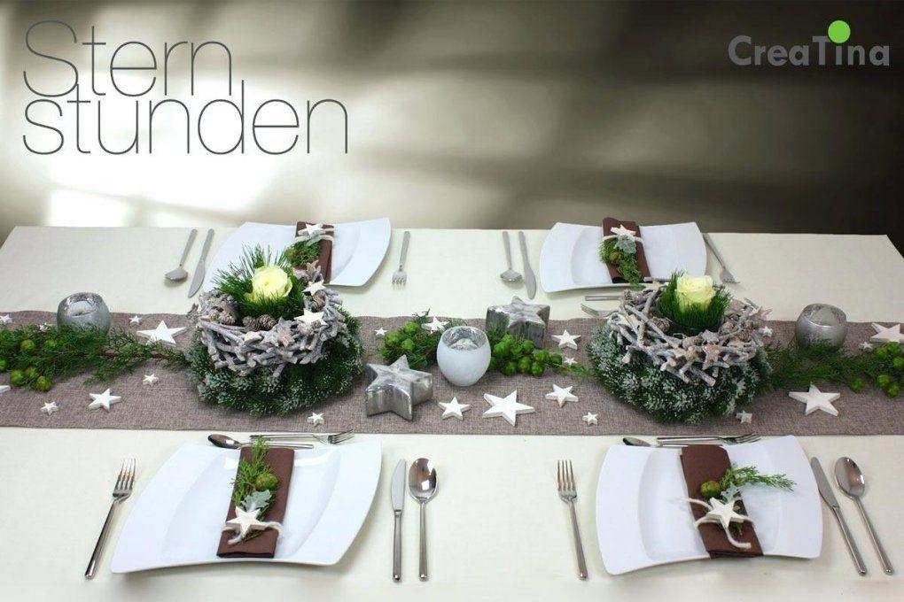 Elegant Tischdekoration Weihnachten Selber Basteln Von