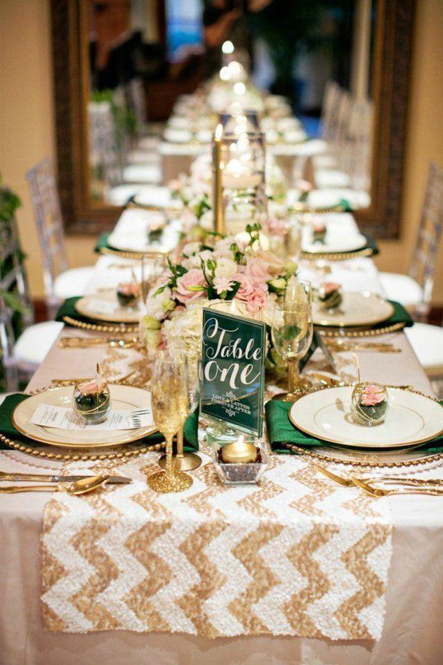Tischdeko Im Winter Zur Hochzeit  18 Farb Und Motivideen von Tischdeko Für Goldene Hochzeit Photo