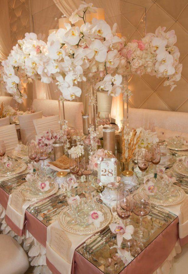 Tischdeko Zur Goldenen Hochzeit  25 Anregungen Fürs Fest von Tischdeko Für Goldene Hochzeit Bild
