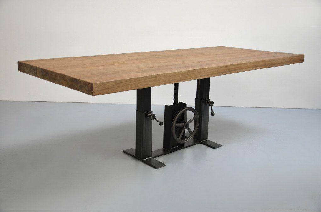 Tischfabrik24  Tischgestell Höhenverstellbar Modell Comper von Couchtisch Mit Höhenverstellbarer Platte Bild