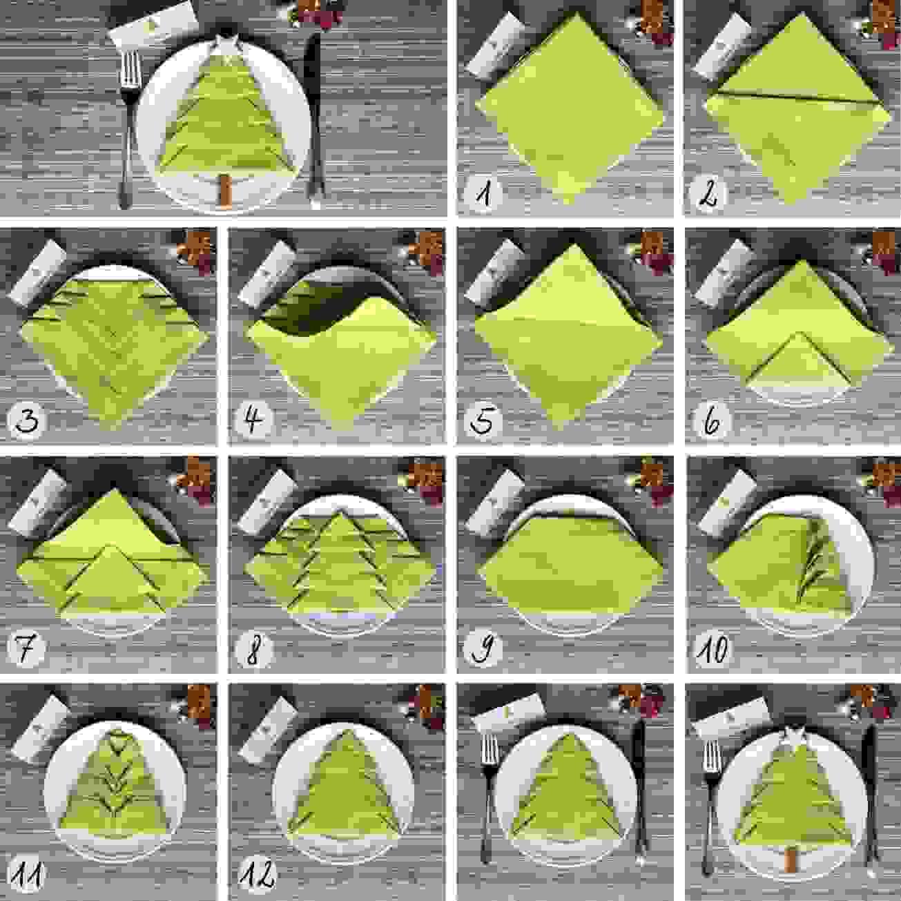 Tischkarten Shop Von Servietten Falten Tannenbaum Designideen von Serviette Als Tannenbaum Falten Photo