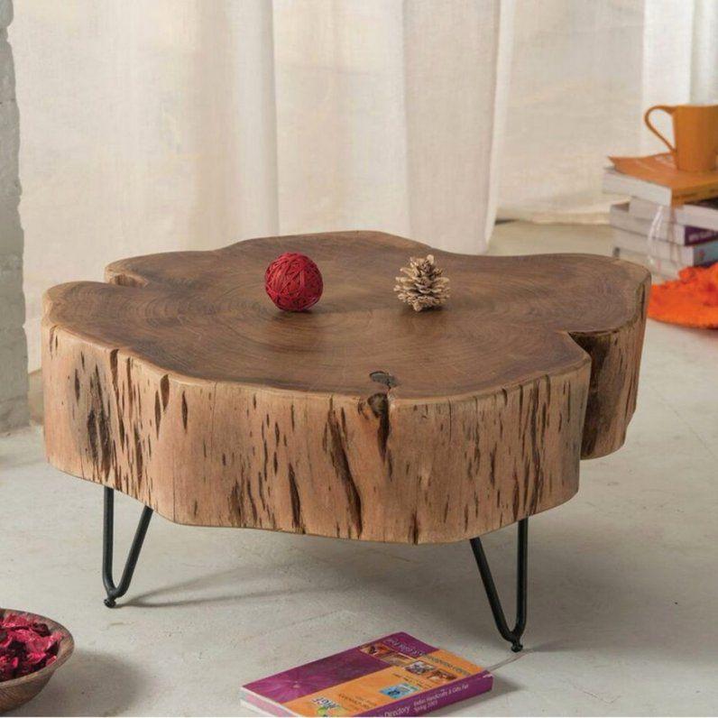 Tischplatte Aus Baumstamm Herstellen Gallery Of Bei Platten With von Tisch Aus Baumstamm Selber Machen Bild