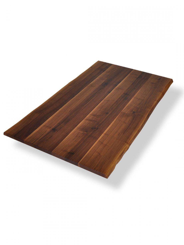Tischplatten Mit Baumkante  Nussbaum Ast Mit Splintanteil von Tischplatte Wetterfest Nach Maß Bild