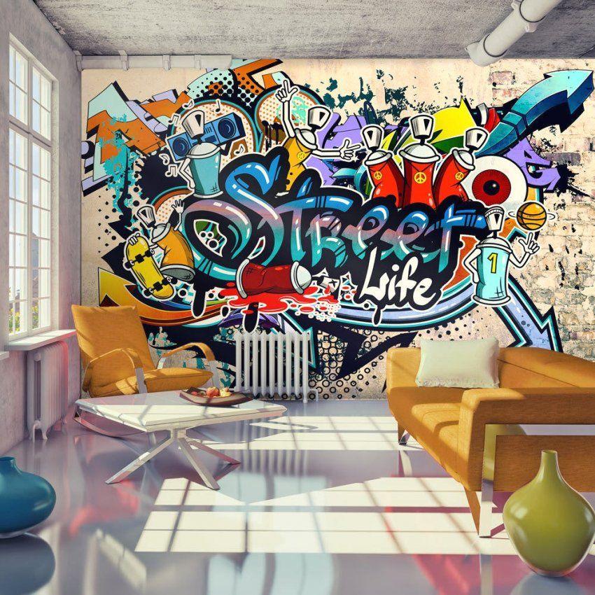 Tolle Ideen Graffiti Tapete Selbst Gestalten Und Brillant Details Zu von Graffiti Tapete Selbst Gestalten Photo