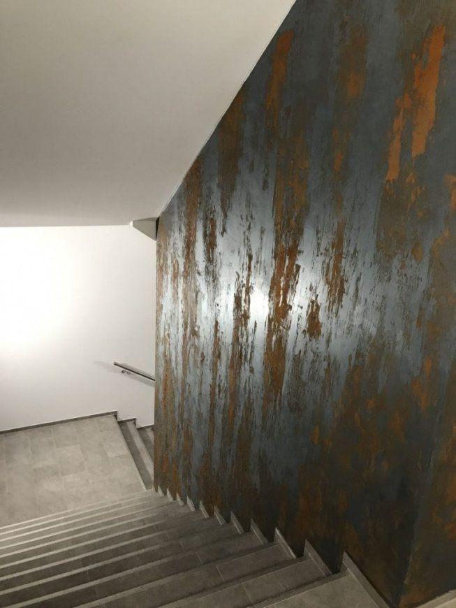 Tolle Wandgestaltung Mit Rostspachteltechnik Von Volimea  Schmitt von Kreative Wandgestaltung Mit Fotos Photo