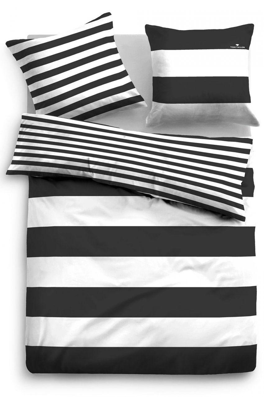 Tom Tailor Baumwoll Bettwäsche 49769821 Schwarz von Schwarz Weiß Gestreifte Bettwäsche Bild