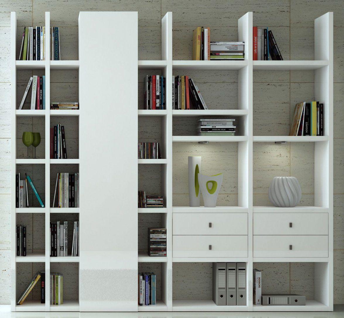 Toro Bücherregal Mit Türen U Schubladen Hochglanz Weiß Nach Maß von Regal Mit Türen Weiß Hochglanz Bild