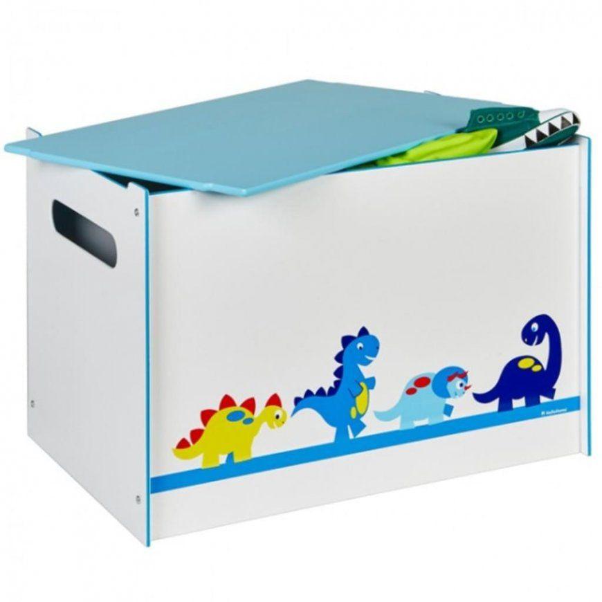 Toy Box Dino Spielzeugbox Mit Griff Und Deckel Holz  Real von Spielzeugkiste Holz Mit Deckel Bild