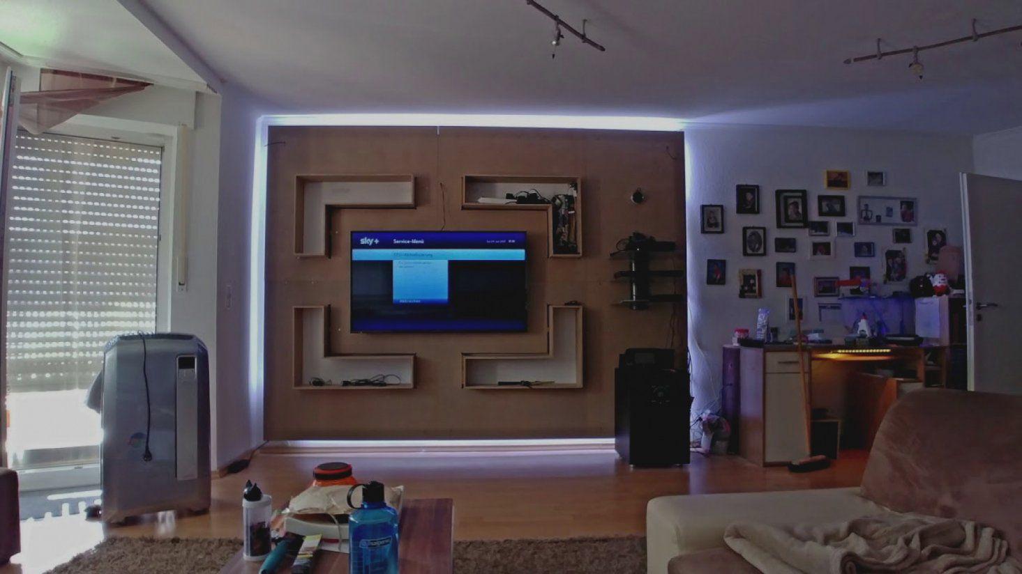 Trend Tv Wand Selber Bauen Laminat Wohnzimmer Wohnwand Front von Tv Wand Selber Bauen Laminat Photo