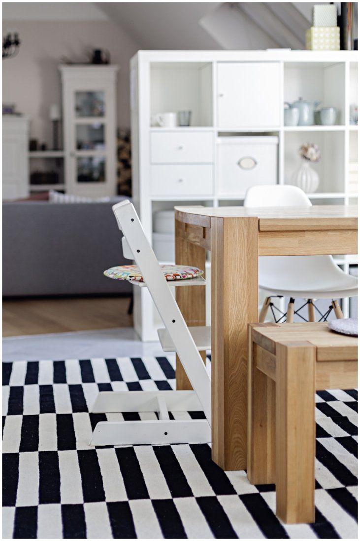 Trendiger Teppich Von Ikea Stockholmwiener Wohnsinn von Teppich Schwarz Weiß Gestreift Photo