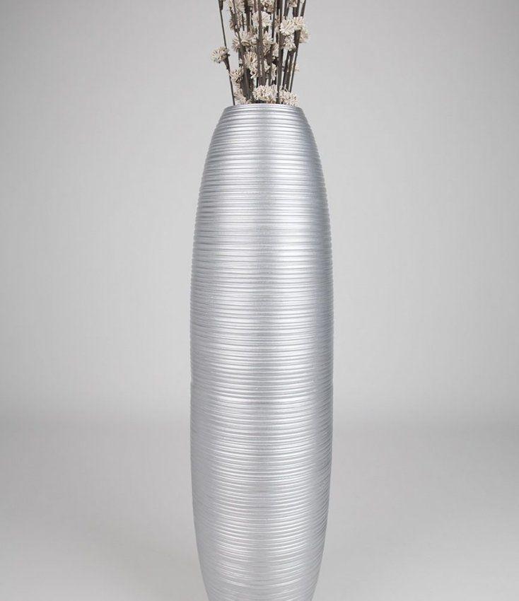Trendy Silver Tall Vase Silver Leewadee To Congenial Home Mystic von Large Silver Floor Vase Bild