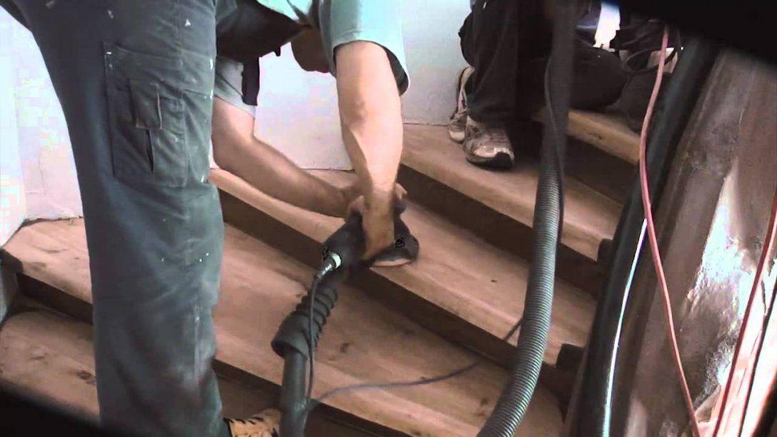 Treppe Abschleifen Und Renovieren  Youtube von Treppe Abschleifen Und Lackieren Bild