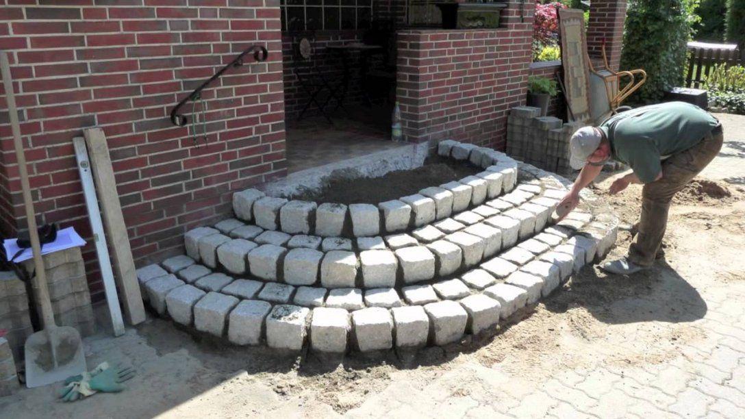 Treppe Aus Granitsteinemov  Youtube von Treppe Hauseingang Selber Bauen Bild