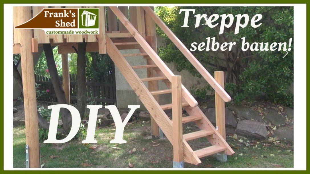 Treppe Aus Holz Selber Bauen  Diy Holztreppe Anleitung von Treppen Podest Selber Bauen Bild
