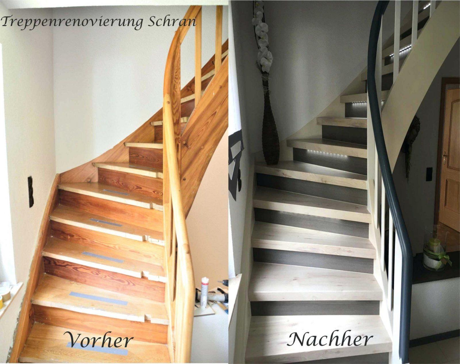 Treppe Erneuern Vorher With Renovieren Nachher Mit Laminat Treppen von Treppe Renovieren Vorher Nachher Photo