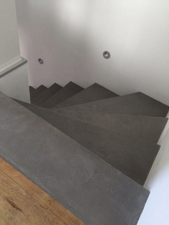 Treppe Vinyl Fugenlos  Haus  Pinterest  Beton Cire Vinyl Und Treppe von Treppe Mit Laminat Verkleiden Anleitung Bild