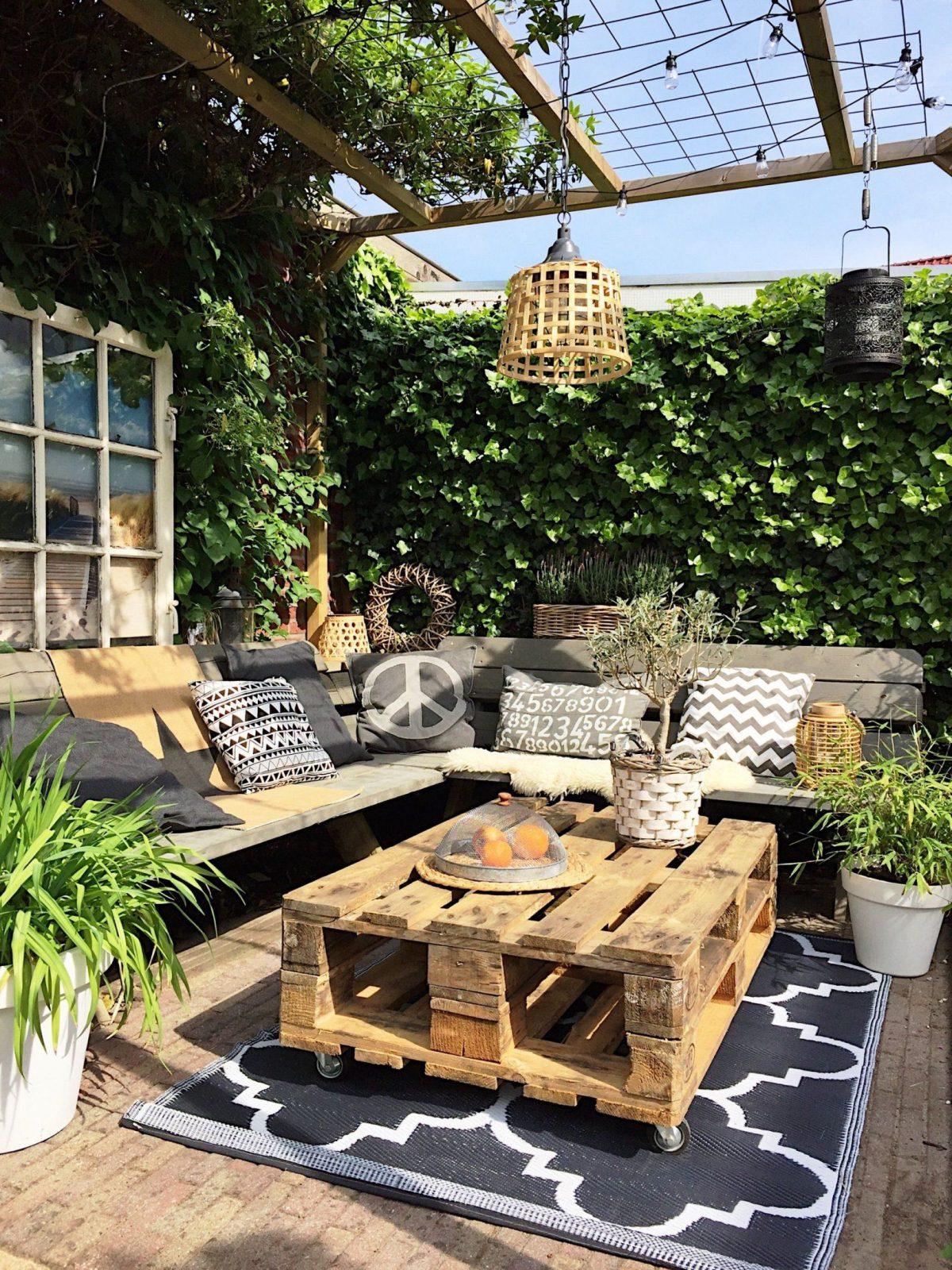 Tuin Binnenkijken Bij Mijnhuisenzo Balkon Gärten Und Terrasse Von Paletten  Ideen Für Den Garten Bild