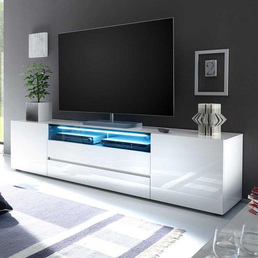Tv Lowboard Widnes In Weiß Hochglanz  Pharao24 von Sideboard Weiß Hochglanz 200 Cm Photo