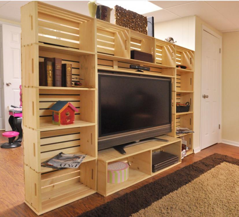 Tv Möbel Selber Bauen von Tv Möbel Holz Selber Bauen Bild