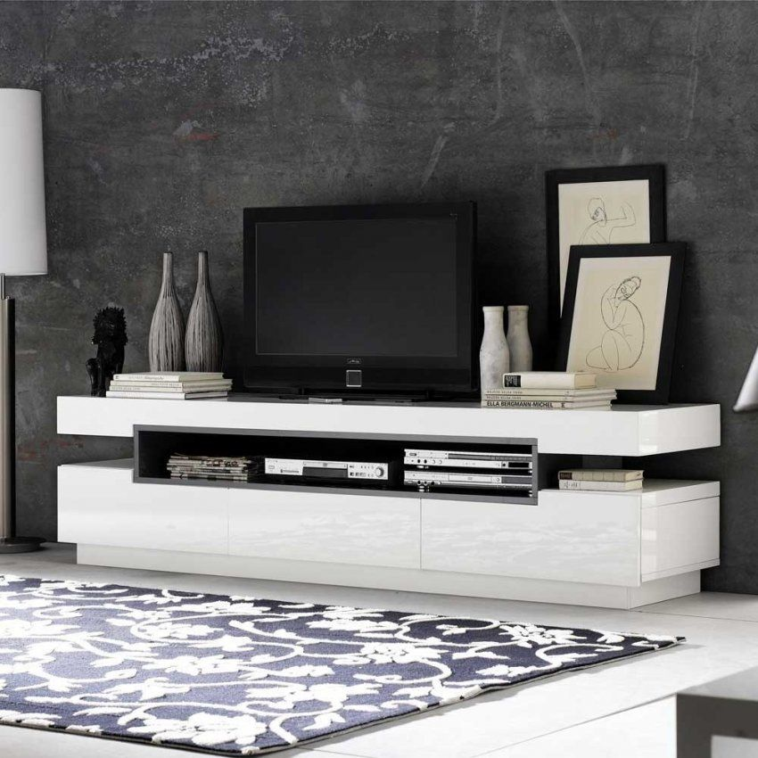 Tv Sideboard Laxie In Weiß Hochglanz 200 Cm Breit Wohnen von Sideboard Weiß Hochglanz 200 Cm Photo