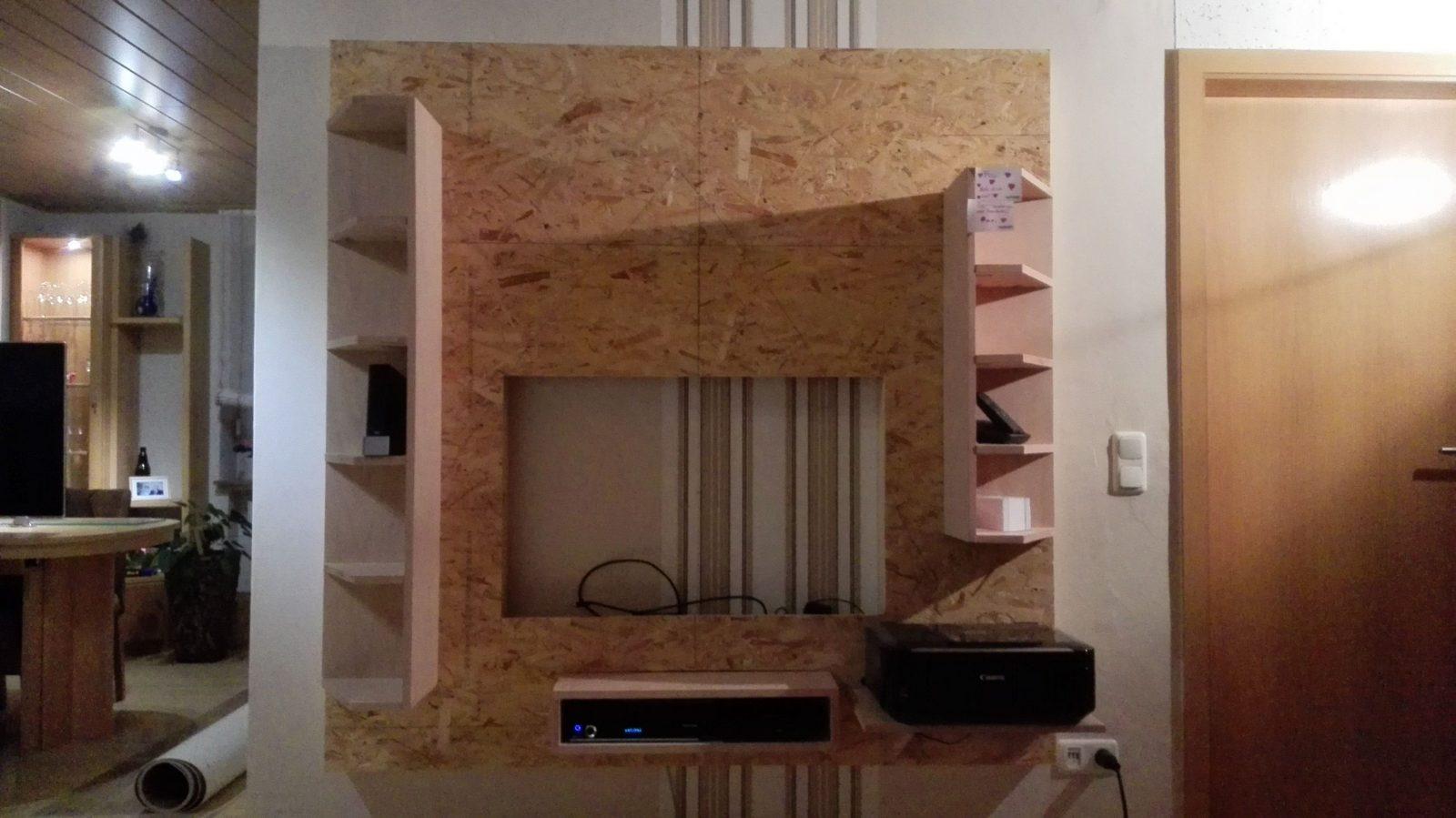 Tv Wand Bauanleitung Zum Selber Bauen  Heimwerkerforum  Holzmöbel von Tv Wand Bauen Anleitung Bild