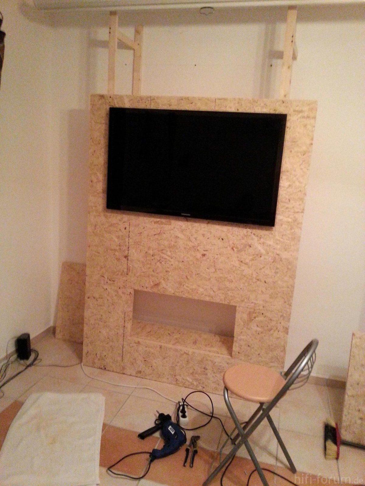 Tv Wand Freistehend Best Of Hifi Wand Selber Bauen  Wand Farbig von Tv Wand Bauen Anleitung Bild