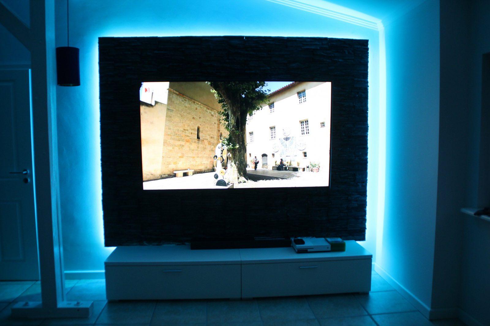 Tv Wand Mit Led Beleuchtung Selber Bauen  Heimwerker von Led Wand Selber Bauen Photo