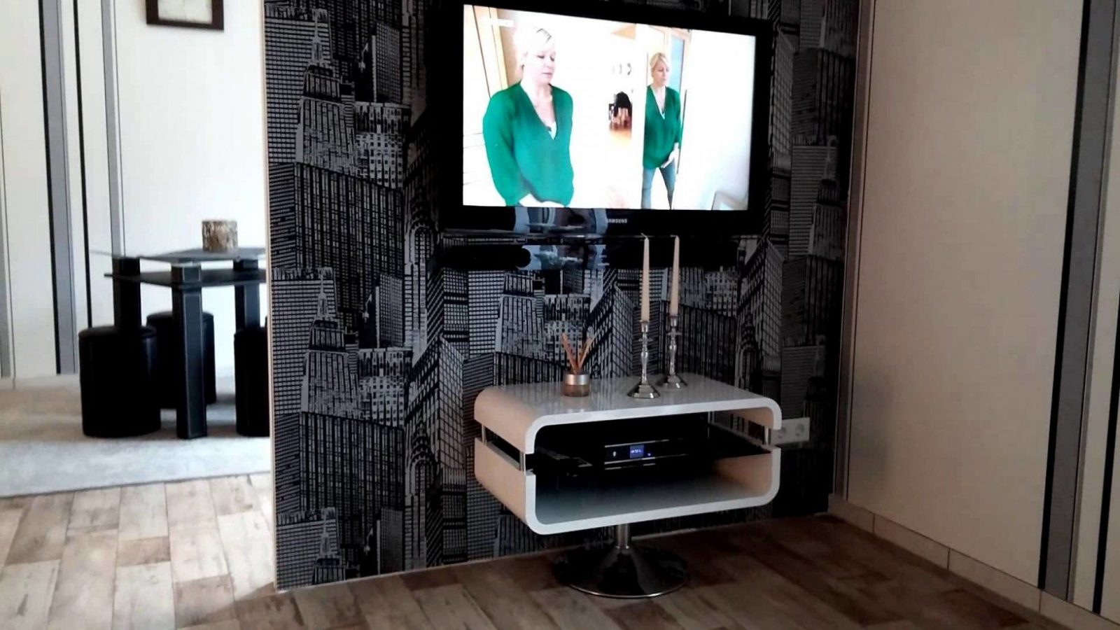 Tv Wand Raumteiler Selber Bauen Von Fachwerk Photo