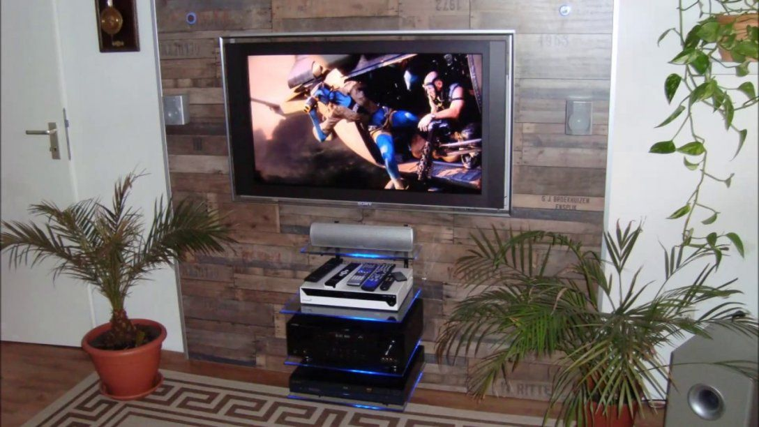 Tv Wand Selber Bauen Ganz Einfach  Youtube von Hifi Wand Selber Bauen Bild