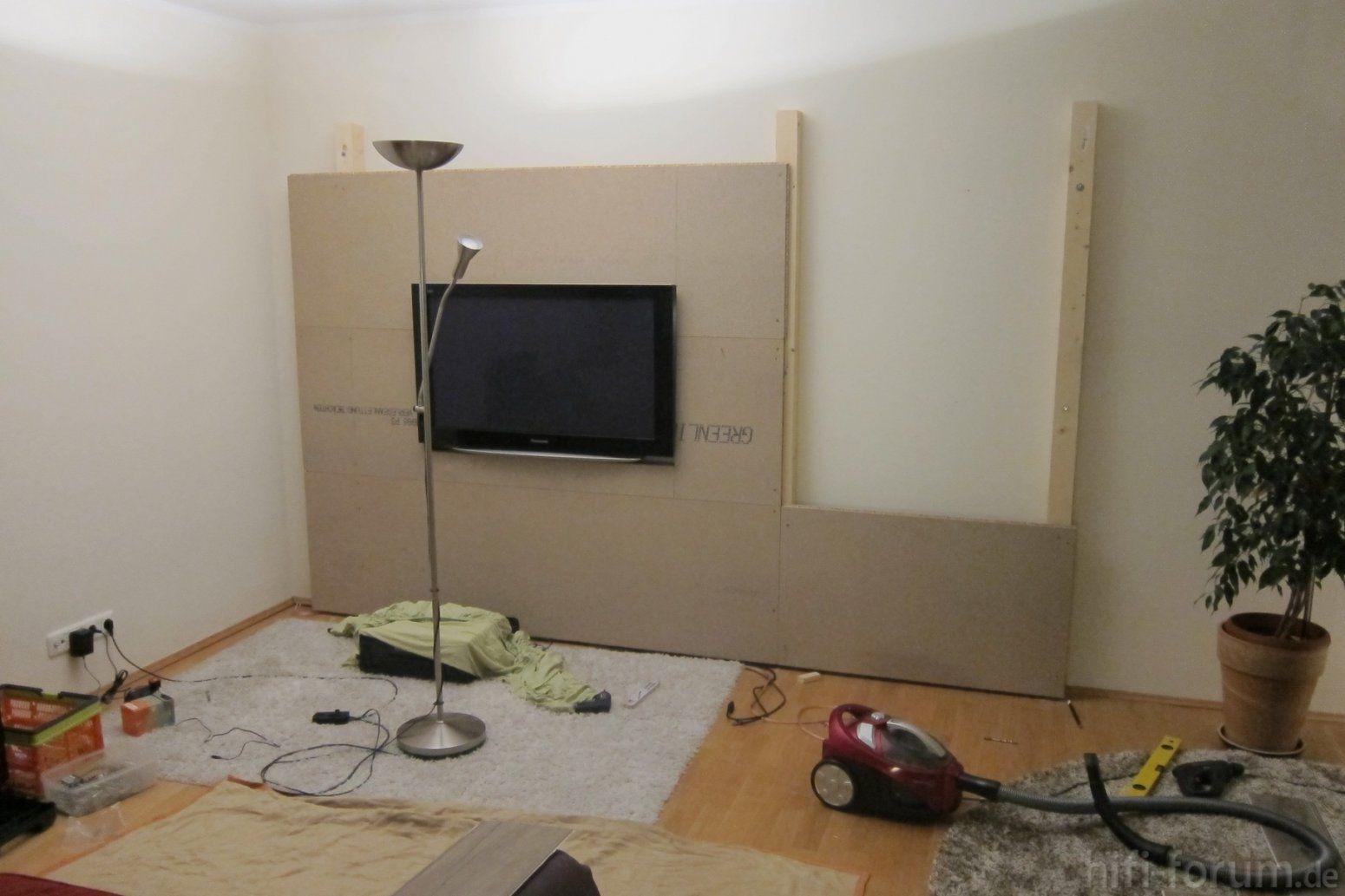 Tv Wand Selber Bauen Laminat Mit Zusätzlichen Unglaublich Haus von Tv Wand Bauen Anleitung Photo