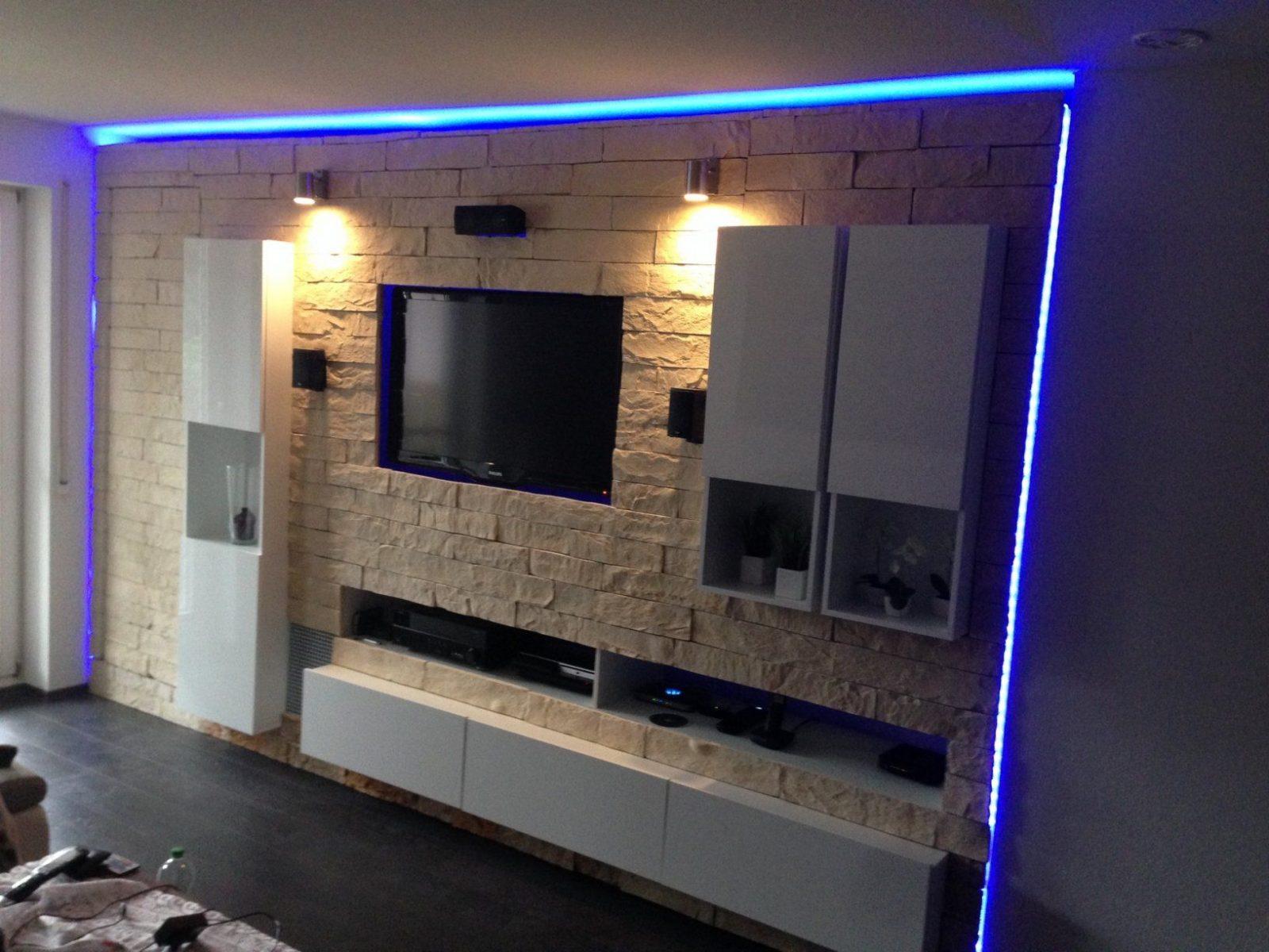 Tv Wand Selber Bauen Mit Led Und Suhd Js9090 Samsung Curved With von Led Leinwand Selber Bauen Bild