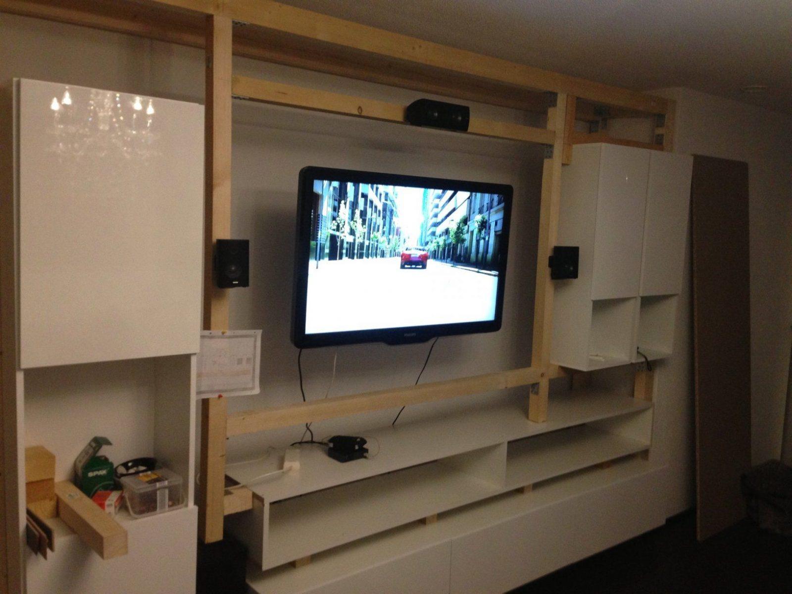 Tv Wand Selber Bauen Mit Mediawand Selbst Gebaut Sonstiges Hifi von Hifi Wand Selber Bauen Bild
