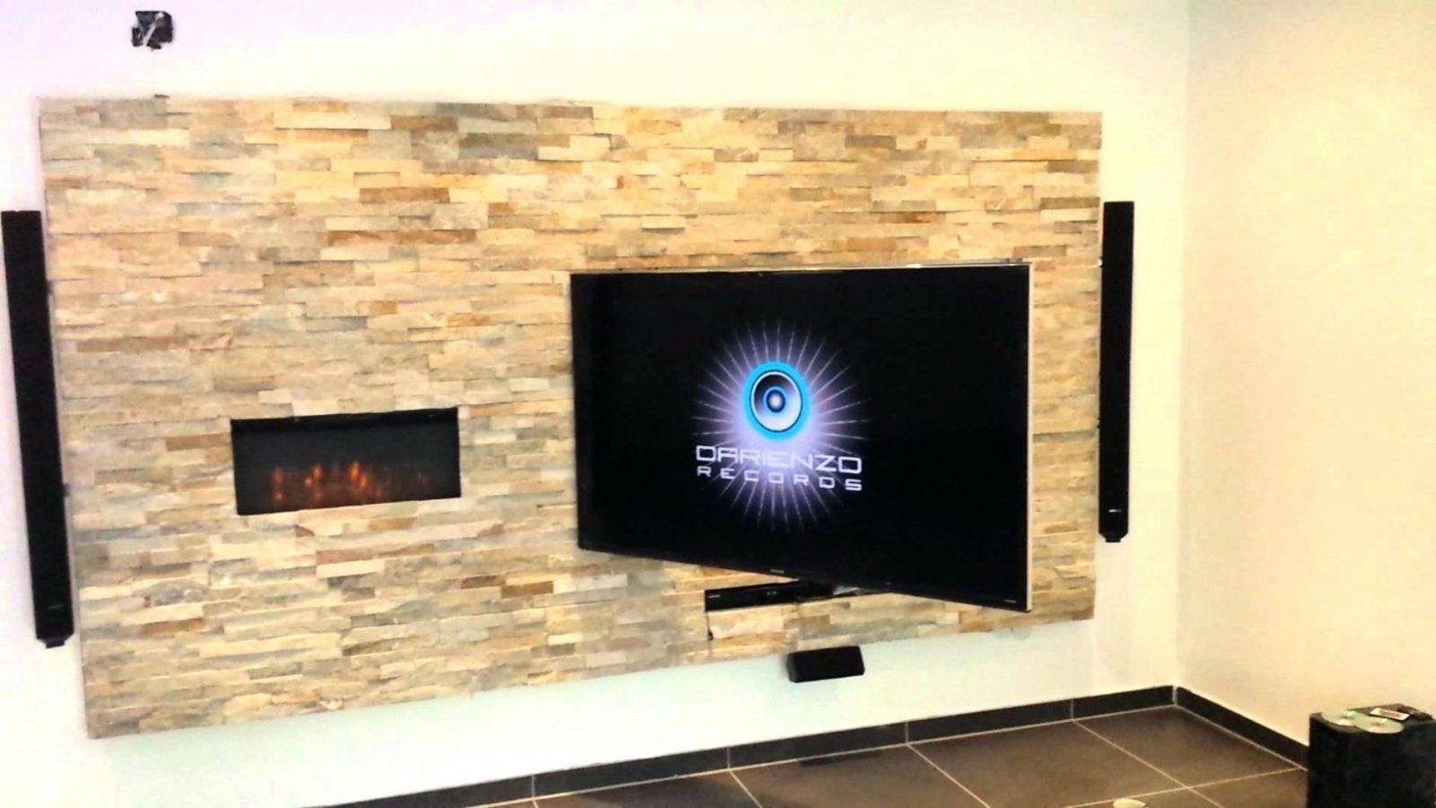 Tv Wand Selber Bauen Multimedia Wohnzimmer Mit Naturstein Verblender von Tv Wand Selber Bauen Anleitung Photo