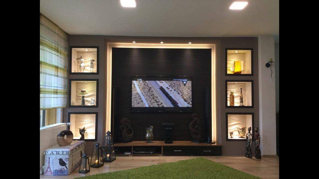 Tv Wand Selber Bauen Wohnzimmer Living Room Tv Wall  Youtube von Tv Wand Selber Bauen Anleitung Bild
