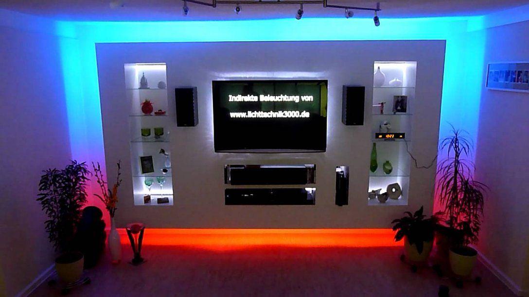 Tv Wand  Youtube von Led Leinwand Selber Bauen Bild