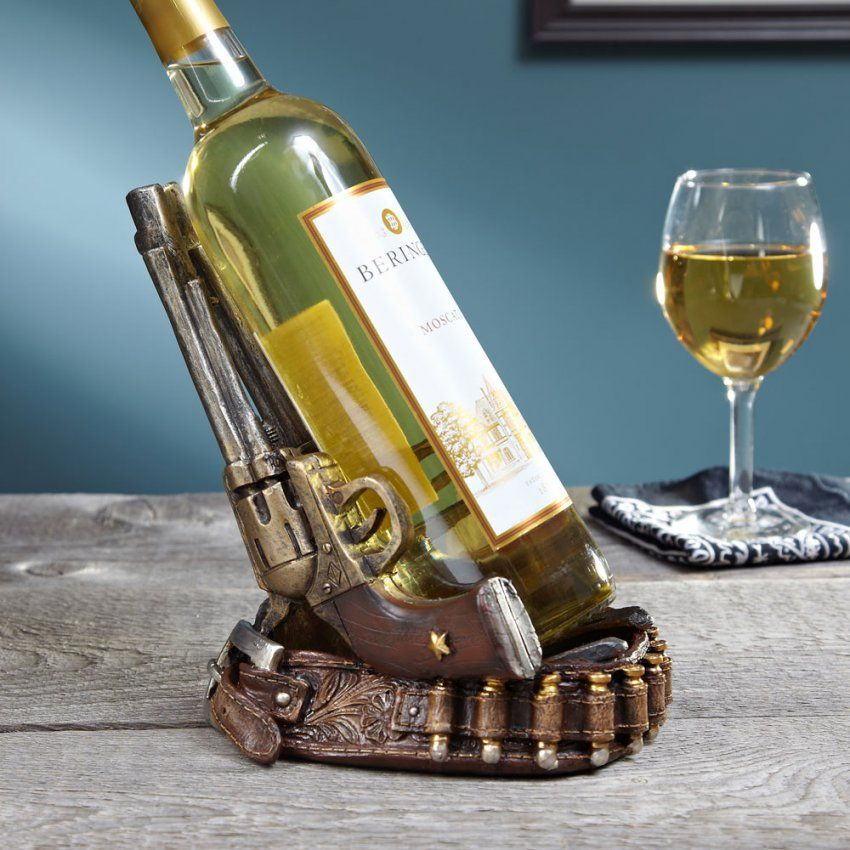 Twin Pistols Wine Bottle Holder von Unique Wine Bottle Holders Photo