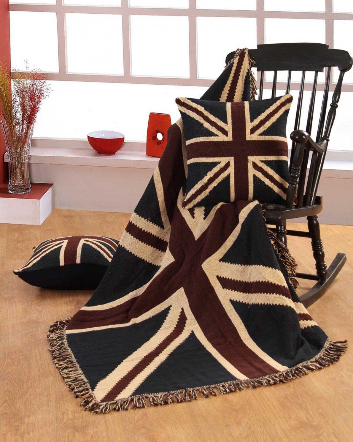 Überwurf Flagge Union Jack 100% Reine Baumwolle  Homescapes von Bettwäsche Union Jack Bild