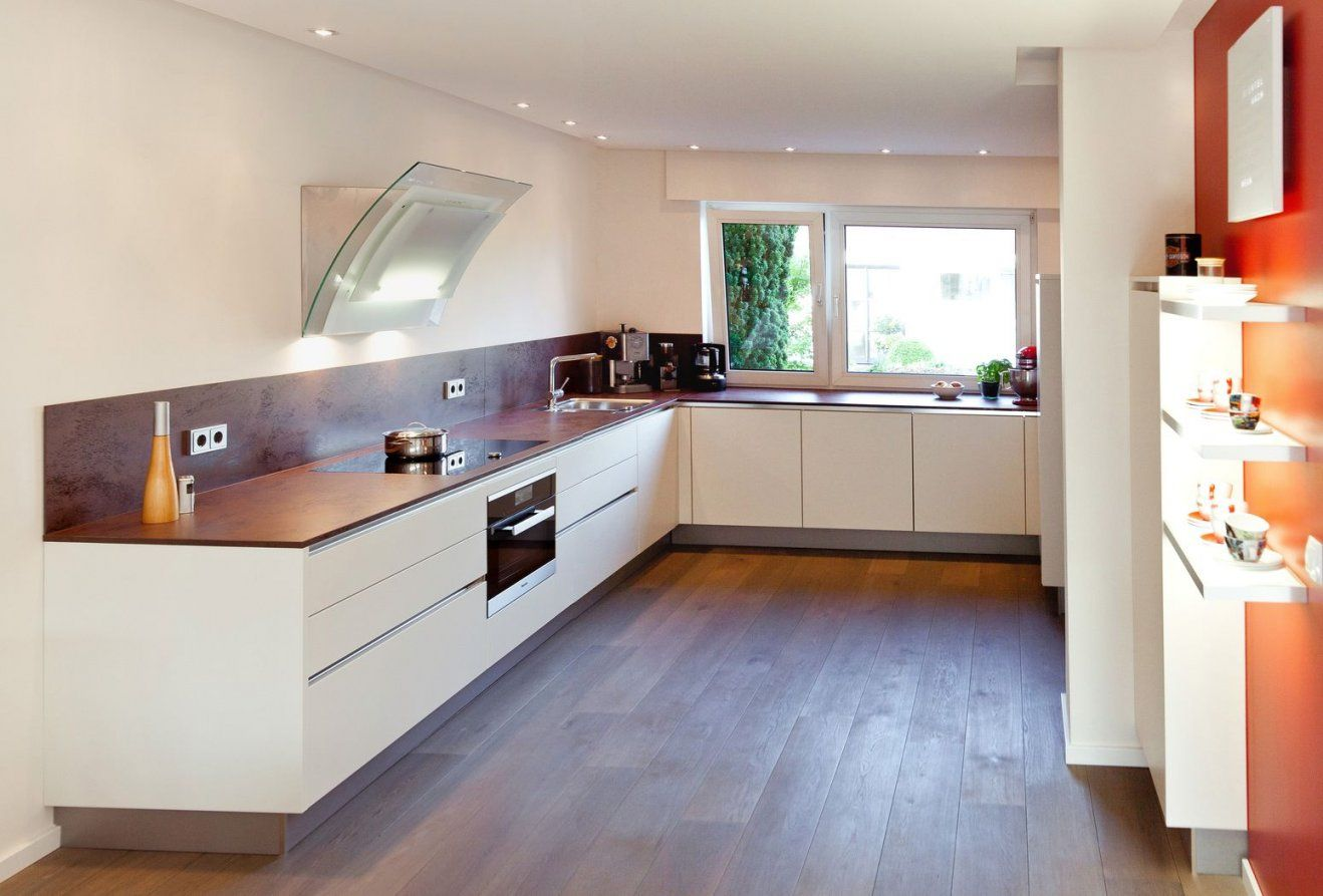 Uform Moderne Grifflose Küche Mit Keramik Arbeitsplatte von Küchen In U Form Günstig Bild