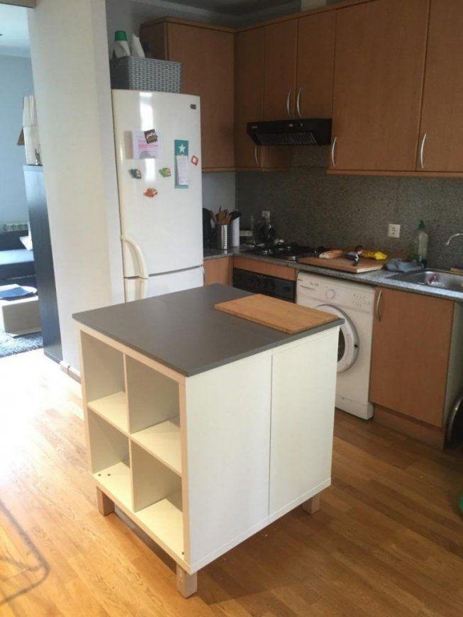 Un Nouvel Ilot Central Cuisine Avec Kallax  Küche Insel Selber von Kücheninsel Selber Bauen Ikea Photo