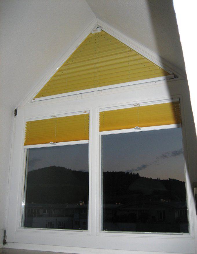 Und Es Geht Doch  Ein Plissee Fürs Dreiecksfenster von Gardinen Für Dreiecksfenster Bild