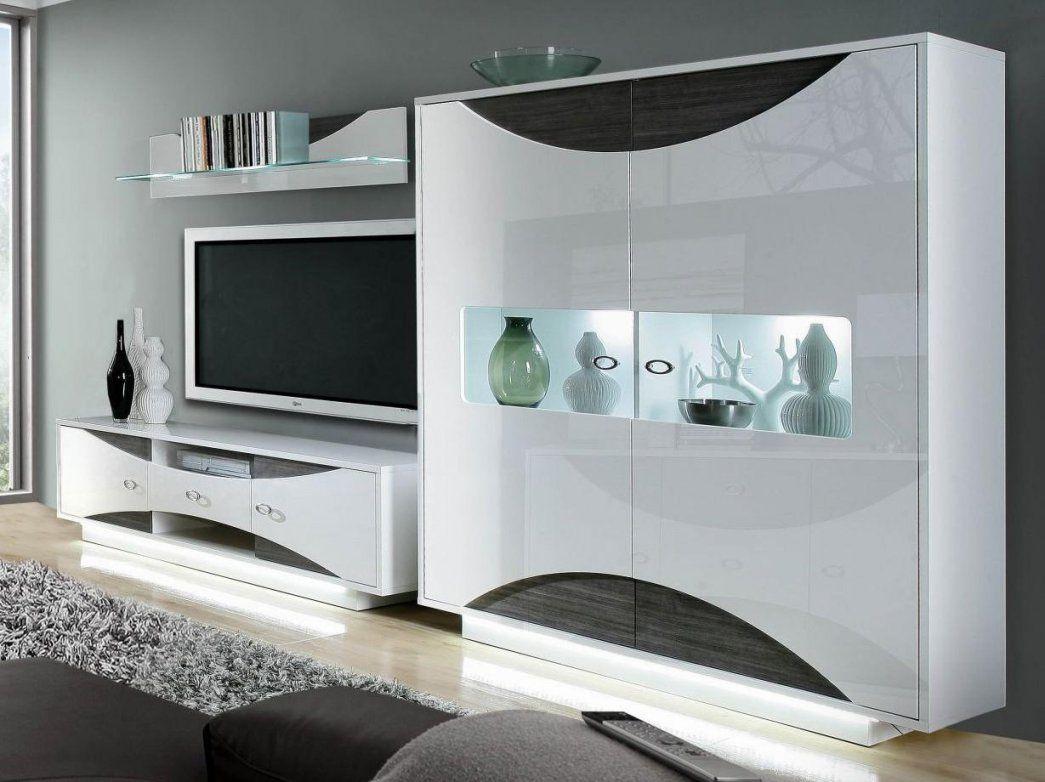 wohnwand modern weiss hochglanz haus design ideen. Black Bedroom Furniture Sets. Home Design Ideas